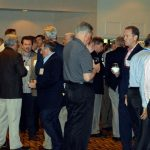 Attendees had the chance to network and mingle at a cocktail reception on the first day.