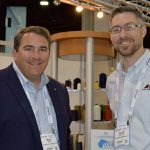 Mark Hatton (left), vice president sales - Americas; and Jacob Blackburn, global marketing coordinator, American & Efird LLC, Mount Holly, N.C.