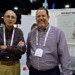 Victor M. Almeida (left), textile engineer, sales, customer support; and PJ McCord, director of sales, (the Americas), Buhler Quality Yarns Corp., Jefferson, Ga.