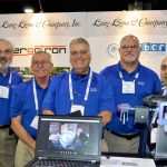 "(left to right): Harrell W. Ligon, president; Jim Stephens, technical services; Stephen ""Steve"" Charron, technical services; and Brian Brimer, technical sales and service, Greenville, S.C.-based Lang Ligon & Co. Inc.; with Davide Benelli, Italy-based Ergotron S.r.l."
