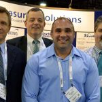 (left to right): Mark Reese, owner, Measured Solutions Inc., Greenville, S.C.; Thomas Schwing, managing director, Germany-based Schwing Fluid Technik GmbH; Patrick Raines, Measured Solutions; and David D. Curry, Measured Solutions Inc.