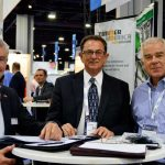 (left to right): Roland Zimmer, president and CEO, Zimmer America, Cowpens, S.C.; Bob Patterson, sales manager, Zimmer America; and Tony Guhr, director, Carbon Fiber Remanufacturing (CFR), Whitewater, Kan.