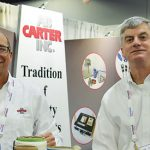 Carroll Craft (left), technical service & sales; and Henderson Wise, national marketing manager, A.B. Carter Inc.