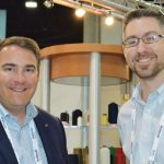 Mark Hatton (left), vice president sales – Americas; and Jacob Blackburn, global marketing coordinator, American & Efird LLC