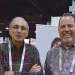 Victor M. Almeida (left), textile engineer, sales, customer support; and PJ McCord, director of sales, (the Americas), Buhler Quality Yarns Corp.
