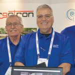 "(left to right): Harrell W. Ligon, president; Jim Stephens, technical services; Stephen ""Steve"" Charron, technical services; and Brian Brimer, technical sales and service, Lang Ligon & Co. Inc."