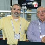 Joseph G. Poterala (left), vice president of operations, Mascoe Systems Corp.; and Paul Ledford, president, Green Textile Machine LLC