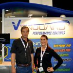 John Russell (left), technical director; and Erin M. Brown, marketing director & business development, APV Engineered Coatings