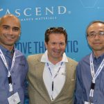 Left to right: Cihan Vzinpinar, nylon process lead technical lead; Bart Krulic, technical sales manager, Industrial; and Dr. Wai-shing Yung, technology director, Product Development, Ascend Performance Materials