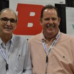 Victor Almeida (left), textile engineer, sales, customer support; and PJ McCord, Director of Sales (Americas), Buhler Quality Yarns Corp.