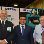 Left to right: Steve Charron, S.A. Charron & Co.; Dharmesh Desai, director, Meera Industries Pvt. Ltd.; and James T. Pye, president, JTP Associates Inc.