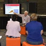 Dave Nelson, director of Industry Engagement, The Nonwovens Institute ,during his Advanced Textiles campfire session