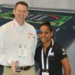 Ken VanHorn (left) and  Rhea Singh, Mimaki USA