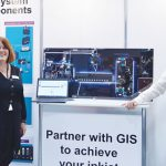 Nadine Cornwell (left) and Peter Stanier, Global Inkjet Systems (GIS)