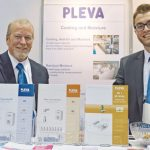 Mike Eplee (left), Pleva U.S.A. Inc.;  and Steffen Kemmer, Pleva GmbH