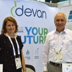 Marleen Van der Auwera (left), business unit manager; and Kenny Parrish, country manager US, Devan Chemicals, Belgium