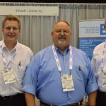 (left to right): Joe Gvora, Technical Sales; Al Wright, manager, Sales Division 1, Textiles, Carpet, Nonwovens; and David Calhoun, product manager - Thickness Measurement Systems, Erhardt + Leimer, Duncan, S.C.