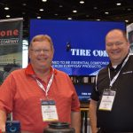 David Johnson Jr. (left), sales manager; and David Flanary, division sales manager and strategic planning manager, Firestone Fibers & Textiles Co. LLC, Kings Mountain, N.C.