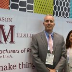Michael Lavroff (left), president; and Brenda Stamboulian, director, Sales & Marketing, Jason Mills Inc., Milltown, N.J.