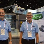 Todd Cooper (left), operations manager, Pierret North American Division, Spartanburg; and Philippe Pierret, managing director, Pierret Industries S.P.R.L., Belgium