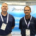Jack Bare (left), senior technical sales manager; and Trevor King, vice president, Marketing and New Business Development, StarChem, Wellford, S.C.