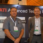 Tim Ziegenfus (left), Advanced Testing Instruments; and Reto Vogt, Textest AG