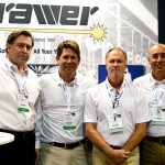 "(left to right): Shartel ""Skip"" Smith, CEO; James Griffith, executive vice president; Tim Hutchens, account manager; and Scott Hartzell, sales manager, Brawer Brothers Inc."