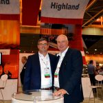 Joey Smith (left), director of purchasing, and Hank Hoshall, product manager, Highland Industries Inc.