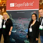 (left to right): Tom de Avila, western regional sales manager, Spunfab Adhesive Fabrics; Doris Runa, director, SuperFabric®; Julie Kim, social consultant, Simply Social; and Leo McSherry, account manager, SuperFabric