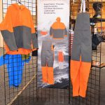 Protective commercial fishing clothing manufactured by Grundéns featuring SuperFabric®