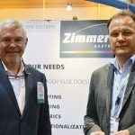 Roland JP Zimmer (left), vice president, sales, North America, Zimmer Austria Inc.; and Horst Ros, managing director, Zimmer Maschinenbau GmbH