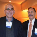 Ignaz Franzen (left) Clariant Masterbatches; and Glenn Jackman, Economic Development Partnership of North Carolina