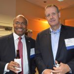 John Amirtharaj (left), Premiere Fibers; and Chris Lancaster, Milliken & Company