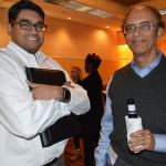 Mayur Rajagopalan (left), William Barnet & Son; and Deepak Khopkar, Premiere Fibers
