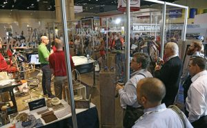 Attendees were able to watch live demonstrations at the Huntsman booth.