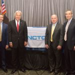 (left to right): Marty Moran; Bill McCrary; Don Bockoven; and Auggie Tantillo, president and CEO, NCTO