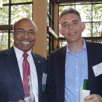 John Amirtharaj (left), Premiere Fibers; and Paul Robinson, The Filament Factory