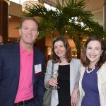 (left to right): Mike Becker, Michael S. Becker; Anna Watts, Triad Polymers; Meredith Boyd, Unifi