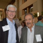 Darrel Wells (left), Precision Fabrics Group; and German De Castro, Tex-Fil