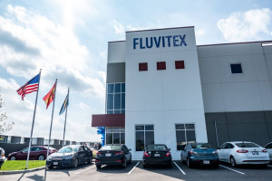 The 123,000-square foot Fluvitex factory outside Columbus, Ohio manufactures fiber-filled pillows, comforters, and cushions sold by IKEA
