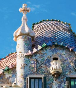 Antoni Gaudí's Casa Batlló masterpiece in the center of Barcelona