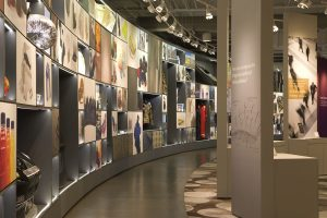 Milliken's Roger Milliken Center features an Innovation Gallery showcasing the company's advanced textile technologies.