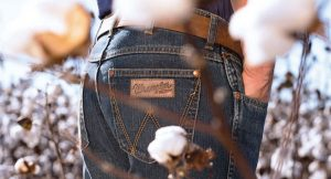 (left): The Wrangler Rooted Collection™  features five state-specific pairs of jeans — the Alabama Jean, the Georgia Jean, the North Carolina Jean, the Tennessee Jean and the Texas Jean
