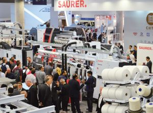Customers gathered at  Saurer's booth during the show to  discover what's new.
