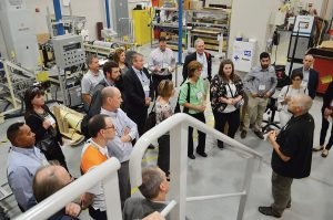 During RISE, the Nonwovens Institute hosted a reception with guided tours of its facility on the NC State campus.